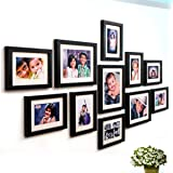 Ajanta Royal Classic Set Of 11 Individual Photo Frames (8-6X8 & 3-8X10) : A-78A (Black)