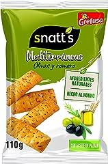 Snatt's Grefusa Snacks Mediterráneos Palitos de Pan con Olivas y Romero, 110g