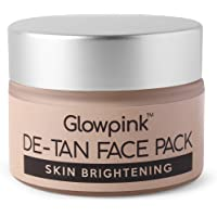 Glowpink DeTan Face Pack Skin Brightening Clay Face Mask For Glowing Skin,Tan Removal, Oil Control, Acne & Fairness, For…