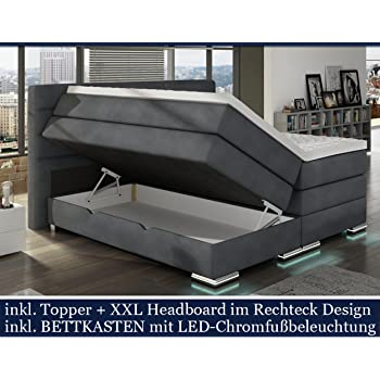 Hg Royal Xxl Roma Boxspringbett Mit Bettkasten Designer Boxspring