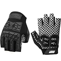 Seibertron Americano Lineman 2.0 Padded Palm Football Receiver Gloves, Flexible TPR Impact Protection Back of Hand…
