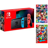 Nintendo Switch Console Rosso neon/Blu neon 32 GB + Super Mario Odyssey + Mario Kart 8 Deluxe – Super Mario Pack