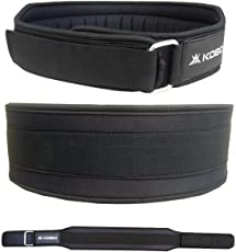 Kobo 4-inch Foam Padded Weight Lifting Belt for Gym