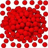 Sumind 100 Pièces Pom Poms de Noël Moelleux Boules de Pom Poms pour Décorations Arts Crafts DIY, Rouge (2 cm)