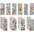 Vicloon Autocollants 3D pour Enfants Stickers 500+Pack,3D en Relief, 22 Feuilles Autocollants de Variétés pour Récompenser Sc