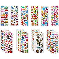 PLUM-MARKETING Autocollants 3D pour Enfants Stickers 500+Pack,3D en Relief, 22 Feuilles Autocollants de Variétés pour…