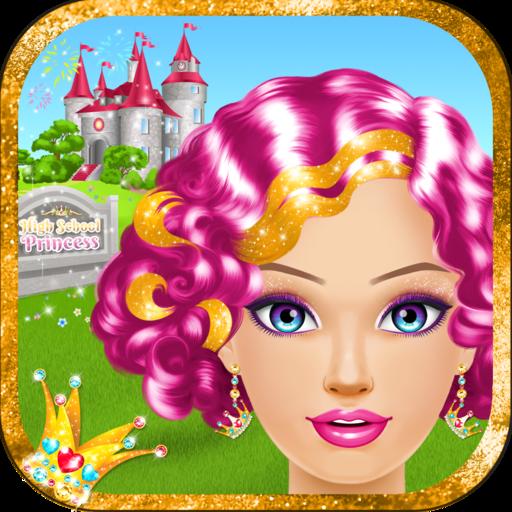 High School Princess Salon: Spa, Makeup and Dress Up Games for Girls
