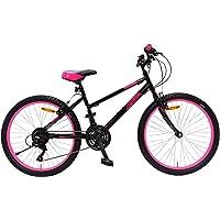 Amigo Power - Mountainbike für Mädchen - 24 Zoll - Shimano 18-Gang - geeignet ab 135 cm - mit Handbremse und…