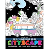 Cityscape- Colouring Book for Adults