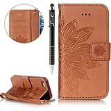SainCat Custodia in Pelle Protettiva Flip Cover per iPhone SE Custodia-180