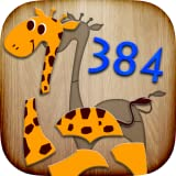 384 Puzzles für Kinder - Lernspiel für Kleinkinder mit ersten Wörtern & Aussprache
