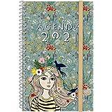 Finocam - Agenda 2021 Semana vista apaisada Espiral Design Collection Lady Español, Mediano - E5-117x181 mm