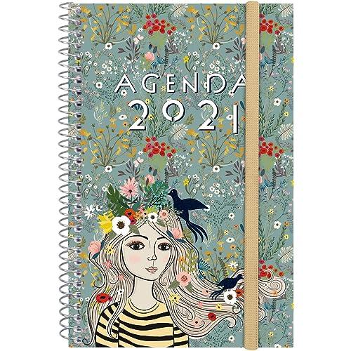 Finocam 745302021, Agenda 2021 Settimanale con rilegatura a Spriale Design Collection Momento Internazionale, large - e10-155x212 mm