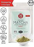 Matcha Weißer Tee - Bio Weißtee Pulver 108 - von Natur aus süß, ideal für Lattes und Smoothies - Die Nr. 1 in Europa [Organic Matcha White Tea Powder -Sweet Taste 28g]