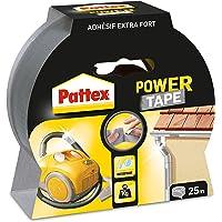 Pattex Adhésifs Réparation Power Tape Etui 25 m Gris