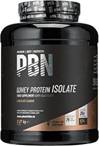 Premium Body Nutrition Whey-ISOLATE, Proteine isolate del siero di latte in polvere, 2.27 kg, Cioccolato, 75 Porzioni