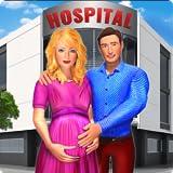 glückliche Familie der schwangeren Mutter