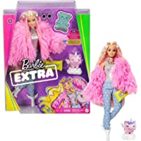 Barbie Extra poupée articulée blonde au look tendance et oversize, avec figurine animale et accessoires inclus, jouet…