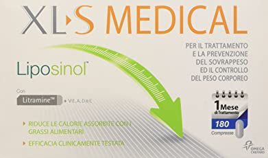 Xls Medical Integratore Alimentare Liposinol 180 Capsule - 340 g