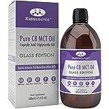 C8 MCT Huile Prime en Bouteille Verre |Produit 3 X Plus de Cétone Que D'Autres Huiles MCT | Triglycérides D'Acide Caprylique Pur |Cétogène, Paleo & Végétalien Sympathique |Ketosource®