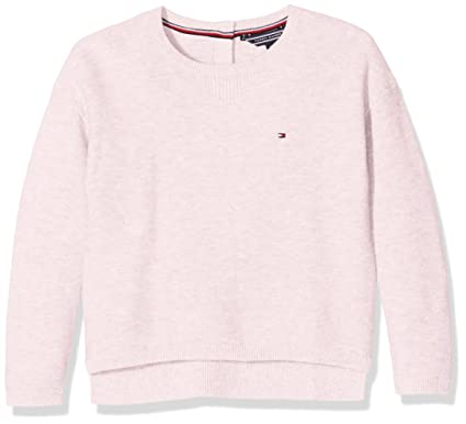 Tommy Hilfiger Ame Basic Sweater L/S Girl's Sweater, Pink (Soft ...