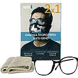 2 x 1 GAMUZA MICROFIBRA ANTI-VAHO GAFAS x 2 UNIDADES - Premium Gamuza Anti Vaho Cristales Gafas - Toallitas Gafas Antivaho -