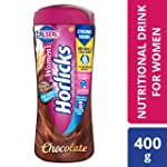 Women's Horlicks Health and Nutrition Drink, 400 gm, Chocolate Flavor Jar (No Added Sugar)