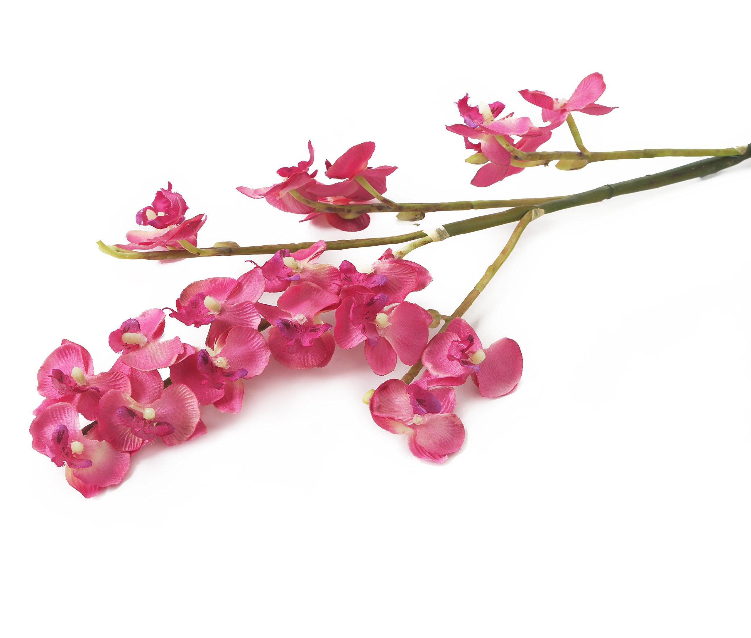 Floral Elegance 69cm Artificiales con Tallo único de orquídeas Artificiales en Miniatura, Rosa