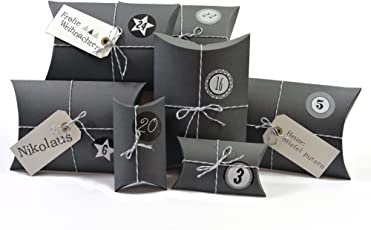 Frau WUNDERVoll Adventskalender 4 - Ho Ho Ho, grau - Weihnachtskalender Bastelset Adventskalender Adventskalender zum Befüllen
