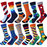 Jeasona Mens Socks Multipack Colourful Funky Dress Cotton Funny Novelty Cool Crazy 9-11 Gifts for Men