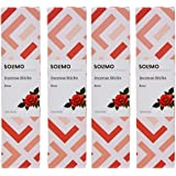 Amazon Brand - Solimo Incense Sticks, Rose - 70 sticks/pack (Pack of 4)