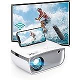AUKEY Mini Proiettore Portatile, Videoproiettor Supporta 1080P Full HD, Proiettore WIFI 5500 Lumen, Proiettore Portatile per