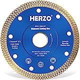 Disco de corte de diamante 115 mm HERZO. Disco Diamante para corte de Porcelanico,Cerámica dura,Azulejos,Mármol,Granito,Piedr