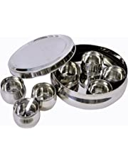 Dynore Belly Shaped Stainless Steel Spice Box Small
