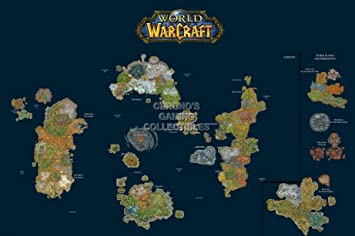 Cgc huge poster world of warcraft world map pc ext185 24 x cgc huge poster world of warcraft world map pc ext185 24quot x gumiabroncs Choice Image