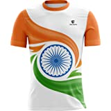 Triumph Indian Flag - Men's Polyester Flag Print Round Neck Half Sleeves Regular Fit T-Shirt for India Country Lovers Indepen