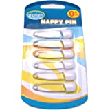 Griptight - 6 Strong Safety Covered Nappy Pins