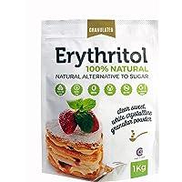 Érythritol 100% naturel, édulcorant pur avec 0 (ZERO) Calories, substitut de sucre et adapté aux régimes céto