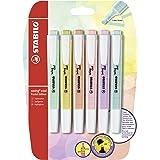 Stabilo Swing Cool Pastel Resaltador Lápices Marcadores - 1-4mm - Pack con 6 Varios Colores