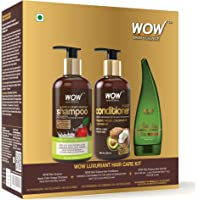 WOW Skin Science Luxuriant Hair Care Kit (Apple Cider Vinegar Shampoo + Hair Conditioner + Aloe Vera Gel), 750 ml