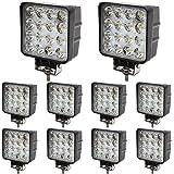 BRIGHTUM 10 x 48W LED offroad werklamp 4560 lumen wit 12V 24V schijnwerper reflector werklicht schijnwerper SUV UTV ATV werkl