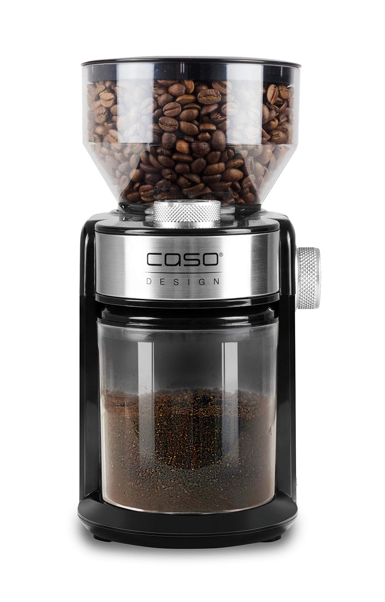 CASO Barista Crema – Elektrische Design- Kaffeemühle, Mahlgradeinstellungen von fein bis grob, aromaschonendes Mahlen…