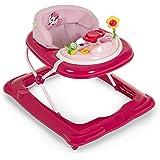 Hauck / Player / Trotteur Bebe Disney de 6 Mois à 12 kg / Marcheur avec Musique / Aide à la Marche avec Centre d'Éveil et Roues / Assise Rembourrée Amovible / Réglable en Hauteur / Minnie Pink (Rose)