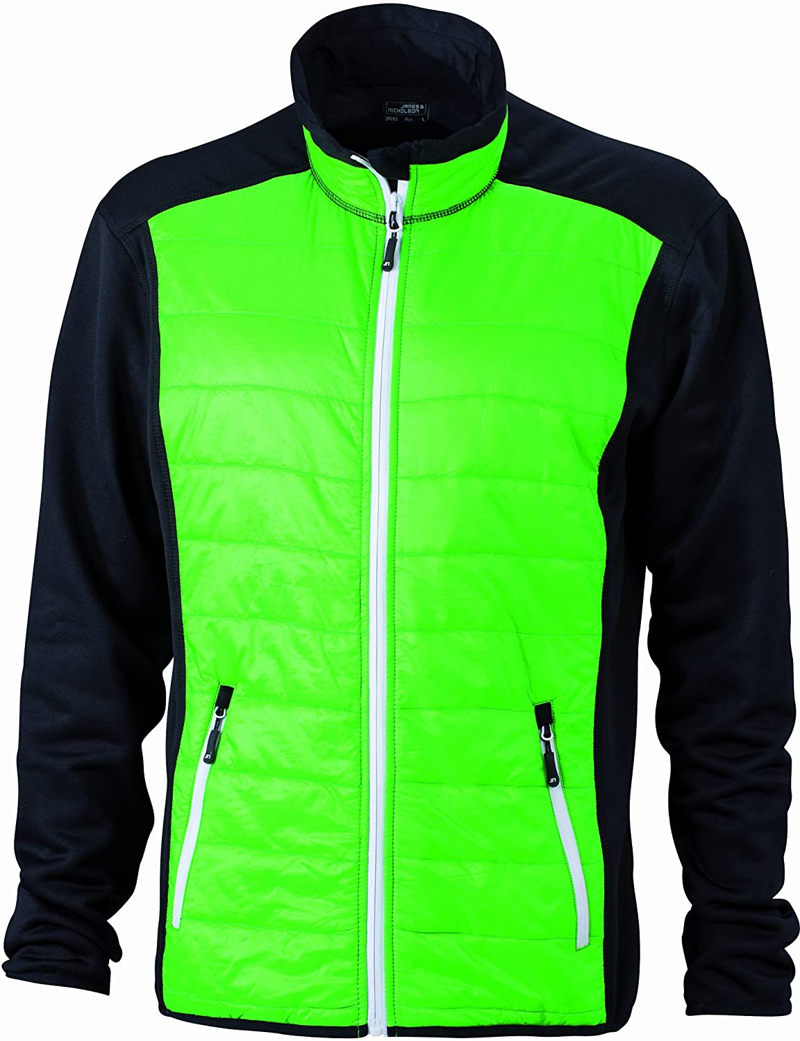 James & Nicholson Men's Jacke Stretchfleece Men's Hybrid Jacket Jacket:  Amazon.co.uk: Clothing