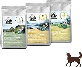 Wildes Land | Halbfeuchtes Trockenfutter für Hunde | Soft mit Reis und Wildkräutern | Glutenfrei | Extra viel Fleisch | Für alle Hunderassen Akzeptanz | Rohstoffe aus Lebensmittelproduktion