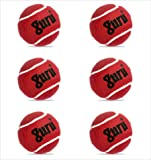 Guru Cricket Tennis Ball - 6 pcs (Heavy, Maroon)