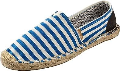 Alexis Leroy Men's Summer Classic Stripe Canvas Flat Espadrilles…