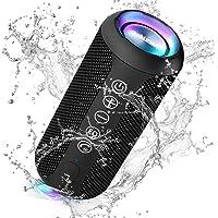 Ortizan Bluetooth Lautsprecher mit Buntem LED-Licht, Tragbarer Mini Bluetooth Box mit Freisprechfunktion, IPX7…