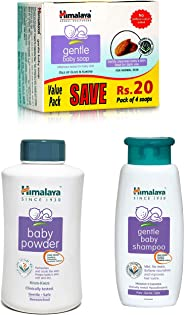Himalaya Gentle Baby Soap Value Pack, 4 * 75g, Powder, 700gand Shampoo (400 ml) Combo