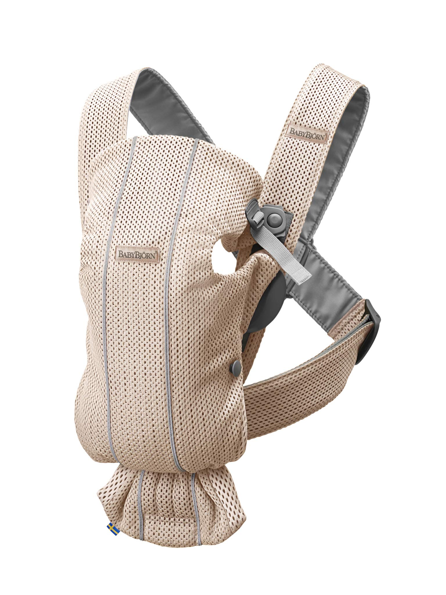 BABYBJÖRN Baby Carrier Mini, 3D Mesh, Pearly Pink Baby Bjorn Perfect first baby carrier for a newborn Small and easy to use 3D Mesh - Cool and airy mesh fabric, with an incredibly soft inner layer next to your newborn's skin 1